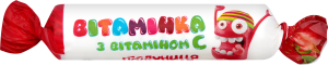 Сахарное изделие с витамином С Клубника Вітамінка м/у 30г
