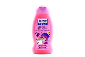 Гель-шампунь для волос детский без слез Kids Малина Dulgon 250мл