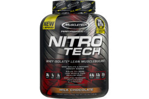 Muscletech Nitro Tech Whey Isolate + Lean Muscle Builder Milk Chocolate