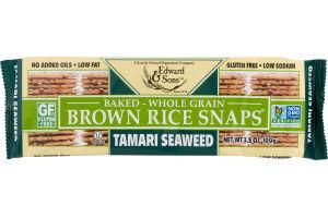 Edward & Sons Baked-Whole Grain Brown Rice Snaps Tamari Seaweed