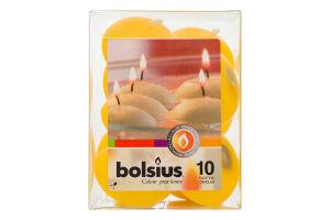 Н-р Свечи Bolsius плавающие желтые 10шт