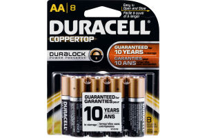 Duracell Coppertop AA Batteries - 8 CT