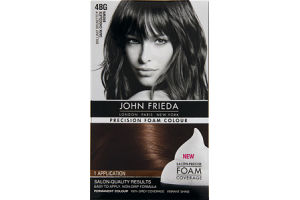 John Frieda Precision Foam Colour Brilliant Brunette 4BG Dark Chocolate Brown Permanent Colour
