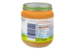 Пюре для дітей від 4міс Яблука з бананами Hipp Organic c/б 125г