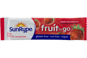 SunRype Fruit To Go Fruit Strip Apple Strawberry