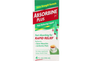 Absorbine Jr. Plus Pain Relieving Liquid Extra Strength
