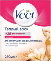 Віск для депіляції теплий з ефірними оліями Veet 250мл