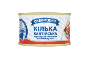 Кілька нерозібрана обсмажена в томатному соусі Балтійська Аквамарин з/б 230г