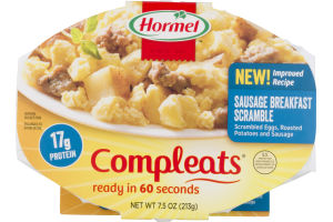 Hormel Compleats Sausage Breakfast Scramble
