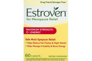 Estroven for Menopause Relief Maximum Strength Caplets - 60 CT