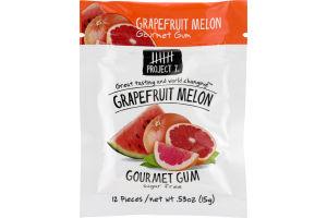 Project 7 Grapefruit Melon Gourmet Gum - 12 CT