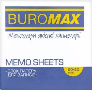 Блок паперу 90х90х70мм №BM.2289 Декор Buromax 1шт