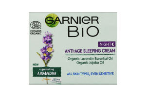 Крем для лица ночной антивозрастной Regenerating lavandin Bio Garnier 50мл