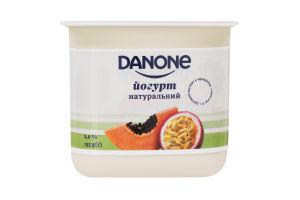 Йогурт 2% натуральний Папайя-маракуйя Danone ст 135г