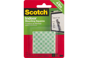 Scotch Indoor Mounting Squares - 16 CT
