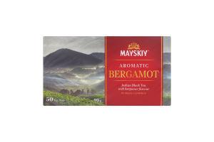 Чай чорний цейлонський байховий дрібний Ароматний бергамот Майский к/у 50х1.8г/уп