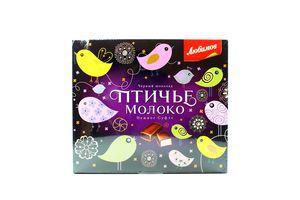 Конфеты Птичье молоко черный шоколад Любимов 150г