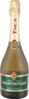 Вино ігристе 0.75л 10-13.5% біле напівсухе Закарпатське Тиса пл