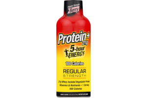 5-Hour Energy Protein+ 21g Regular Strength Dietary Supplement Berry