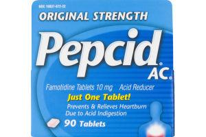 Pepcid AC Original Strength Heartburn Relief Tablets - 90 CT