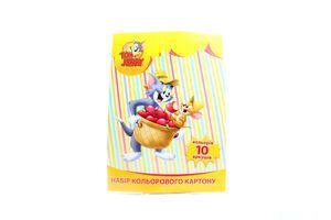 Набір кольорового картону 10арк 02200