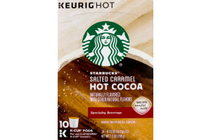 Starbucks Keurig Hot Salted Caramel Hot Cocoa K-Cup Pods - 10 CT