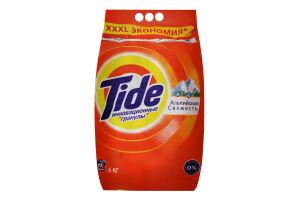 Порошок стиральный с усиленными чистящими компонентами Альпийская свежесть Tide 6кг