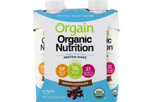 Orgain Organic Nutrition Protein Shake Smooth Chocolate - 4 PK