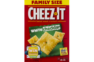 Cheez-It Family Size Baked Snack Crackers White Cheddar