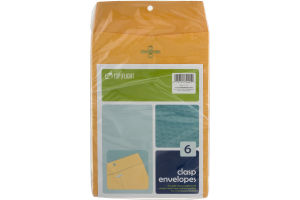 Top Flight Clasp Envelopes 6 in x 9 in - 6 CT