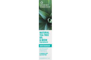 Desert Essence Natural Tea Tree Oil & Neem Toothpaste Wintergreen