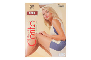 Колготи жіночі Conte Solo Relax 20den 3-M natural