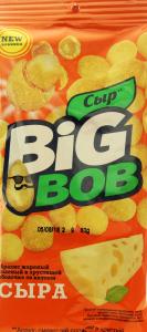 Арахис жареный соленый в хрустящей оболочке со вкусом сыра Big Bob м/у 60г