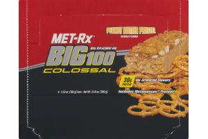 Met-Rx Big 100 Colossal Peanut Butter Pretzel Meal Replacement Bar - 9 CT