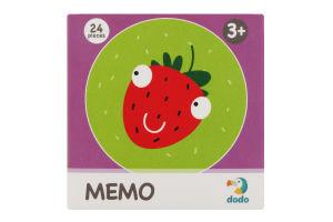 Игра настольная для детей от 3лет №300143 Ягодки Memo Dodo 24шт