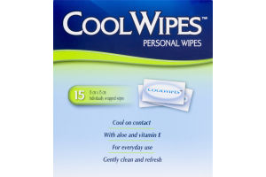 (CN) Cool Wipes Lingettes Fraicheur - 15 CT, Cool Wipes Personal Wipes - 15 CT