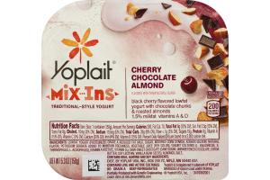 Yoplait Mix Ins Traditional Style Yogurt Cherry Chocolate Almond