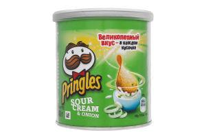 Чипсы картофельные со вкусом сметаны и лука Pringles к/у 40г