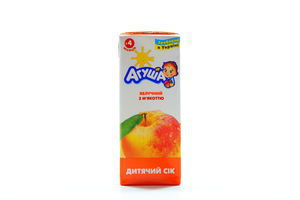 Сок яблочный с мякотью осветленный Агуша 200мл