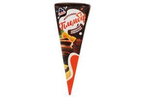 Морозиво Рудь Пломбір Шоколад-Апельсин ріжок карт.уп. 70г х4