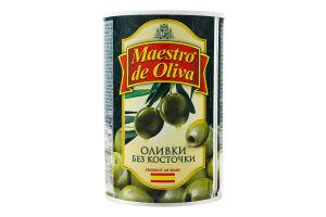 Оливки без кісточки Maestro de Oliva з/б 420г