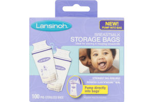 Lansinoh Breastmilk Storage Bags Pre-Sterilized - 100 CT
