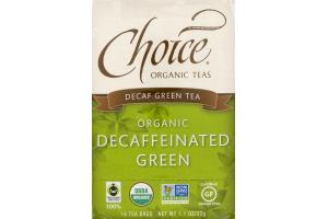 Choice Organic Teas Decaf Green Tea Organic Decaffeinated Green Tea Bags - 16 CT