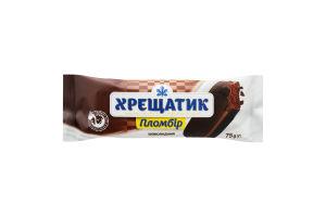 Мороженое 12% шоколадное в кондитерской глазури Пломбир Хрещатик м/у 75г