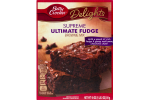 Betty Crocker Delights Supreme Ultimate Fudge Brownie Mix