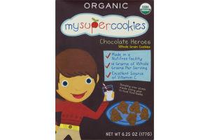 MySuperCookies Organic Chocolate Heroes Whole Grain Cookies