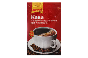 Кофе натуральный растворимый гранулированный Extra! д/п 70г