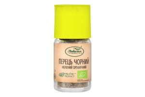 Перец черный молотый органический Любисток с/б 31г