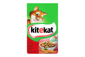 Корм сухой для взрослых кошек С говядиной и овощами KiteKat м/у 1.8кг