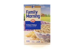 Хлопья 4-х видов злаков Family Morning Аха к/у 500г